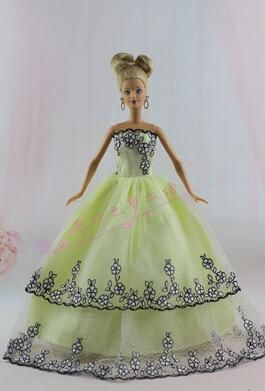 The new Genuine case for Barbie doll clothes clothing accessories, apparel dress wedding dress princess dress