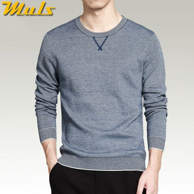 Sweater men pullover cotton knitted O neck breathable spring autumn sweater jumper for man Muls brand plus size 3XL 4XL MS16015