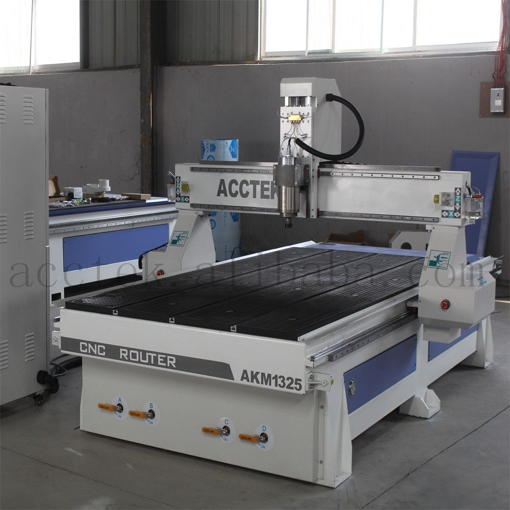 3.0kw water cooling spindle 1325 cnc plywood, mdf, aluminum plate cutting cnc machinery/cnc router machine