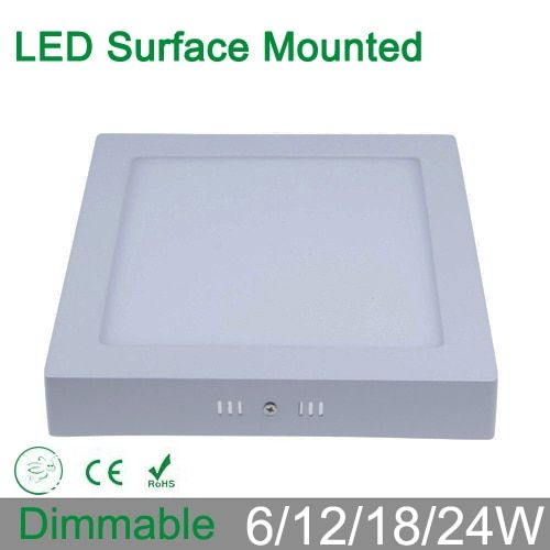Dimmable 6W 12W 18W  surface mounted LED Ceiling Light square led Panel down Lights for home luminaire lighting AC85-265V