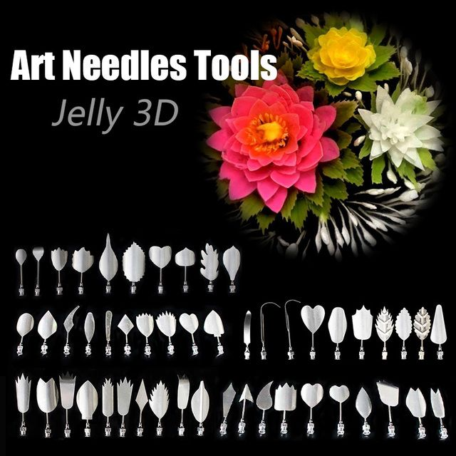 New 5 Style Amazing Gelatin Art Tools Gracilaria Jelly 3D Jello Cake Tools 10 Pcs/Set #92799