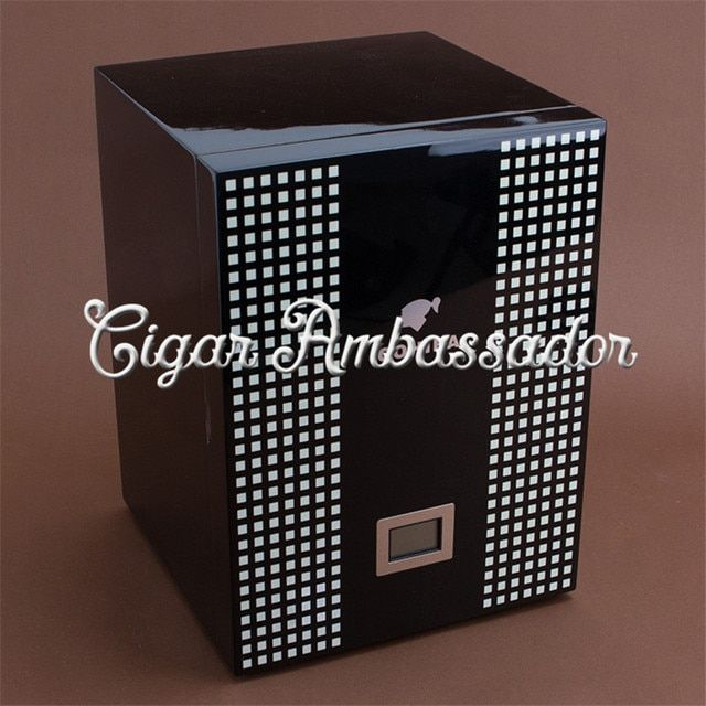 High Quality Classical COHIBA 4 Drawers Behike Wooden Cigar Humidor Cabinet Box with Digital Hygrometer