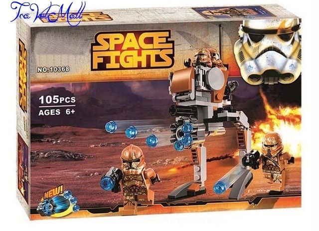 TraVelMall New in Box 10368 105pcs Star Wars series The Avengers Geonosis Troopers Blocks Bricks Toy Doll for Bela kids gift
