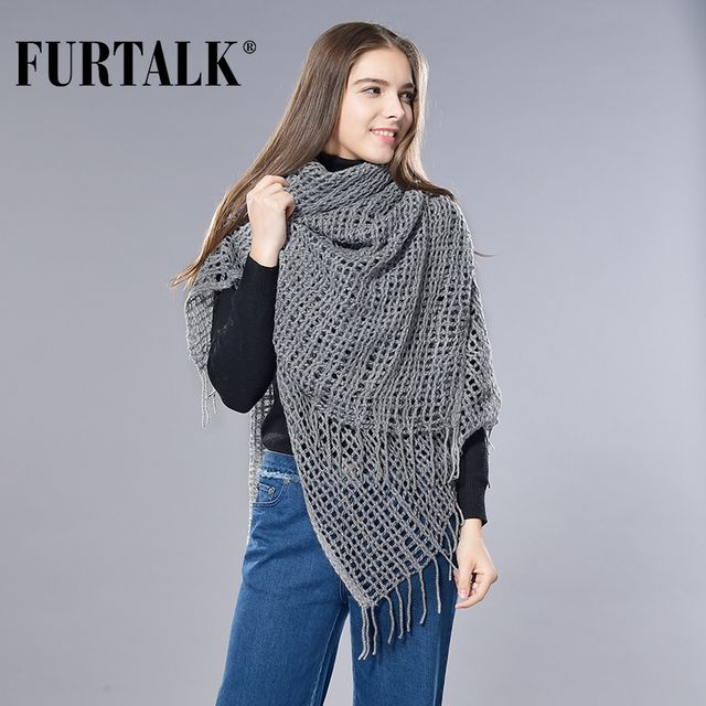 Furtalk 100% Cashmere Women Scarf Luxury Brand Cashmere Scarves Shawl for Women Wool Pashmina