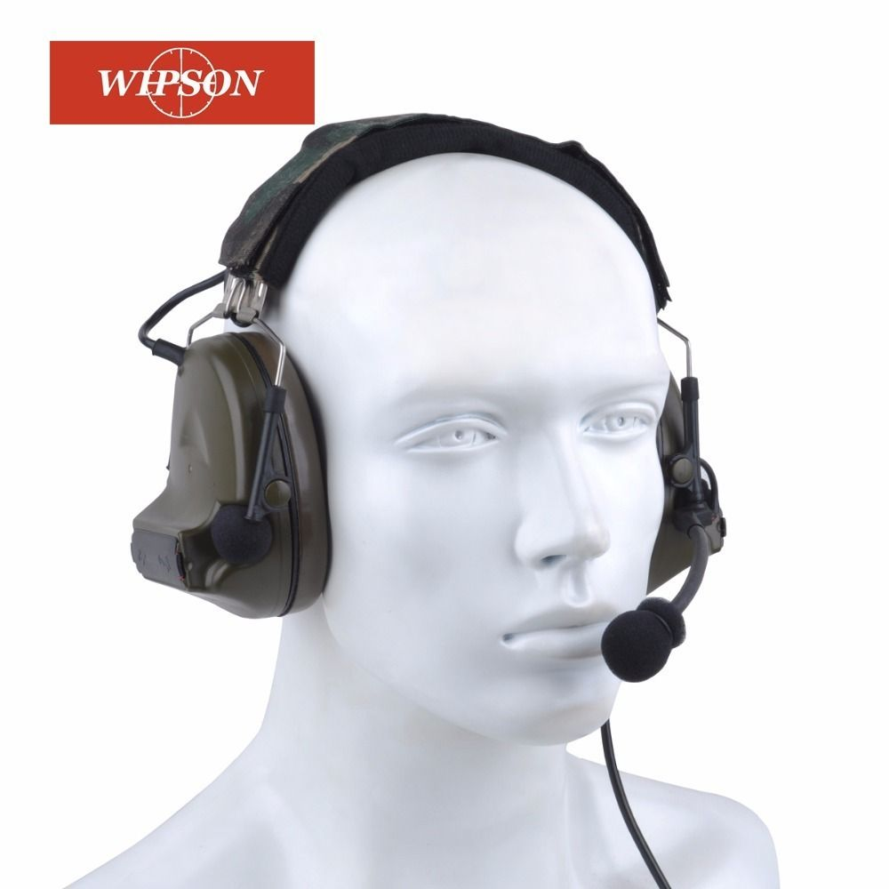WIPSON Tactical comtac headphone Comtac II Headset Airsoft Paintball Hunting Headset Style Active Noise Canceling Headphone