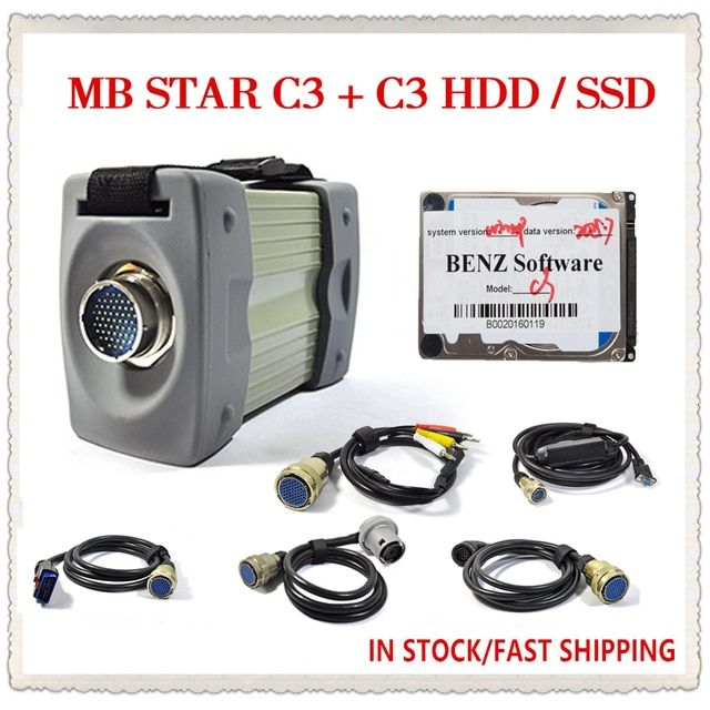 Mb Star C3 With v2015.07 HDD/SSD MB Star C3 Full Set 5 Cables do cars  Diagnostic Tools DHL Free Ship
