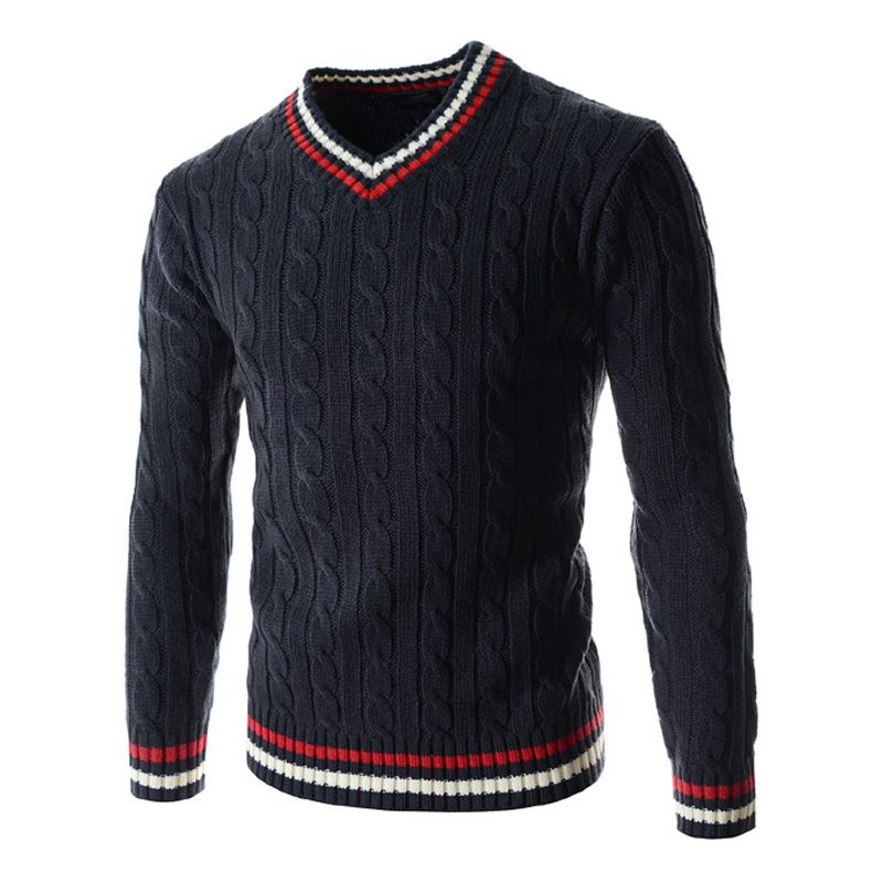 2018 Jumper Men Fashion Winter Sweater Pullover Men Knitted Slim Sweaters Christmas Casual V-neck Sweaters Sueter Hombre