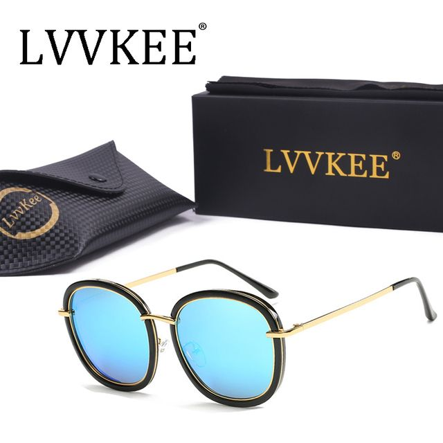 lvvkee superstar Vintage Fashion clear sunglasses Polarized Women Men Polariod Brand Designer Female Oversized Glasses retro 831