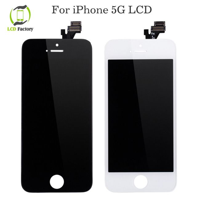 100%  Display For Apple iPhone 5 LCD Touch Screen Digitizer Assembly AAA Quality No Dead Pixel Free Shipping