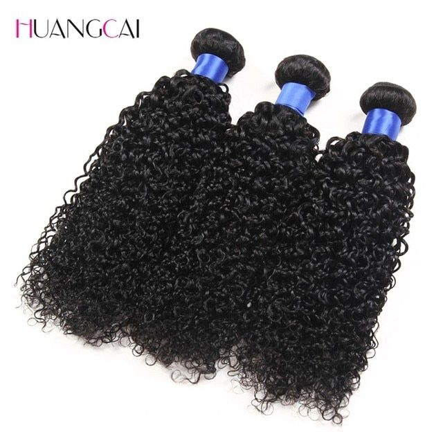 Kinky Curly Virgin Hair 3 Pcs Natural Black Human Hair Extension Brazilian Curly Virgin Hair Grade 7A Brazilian Kinky Curly Hair