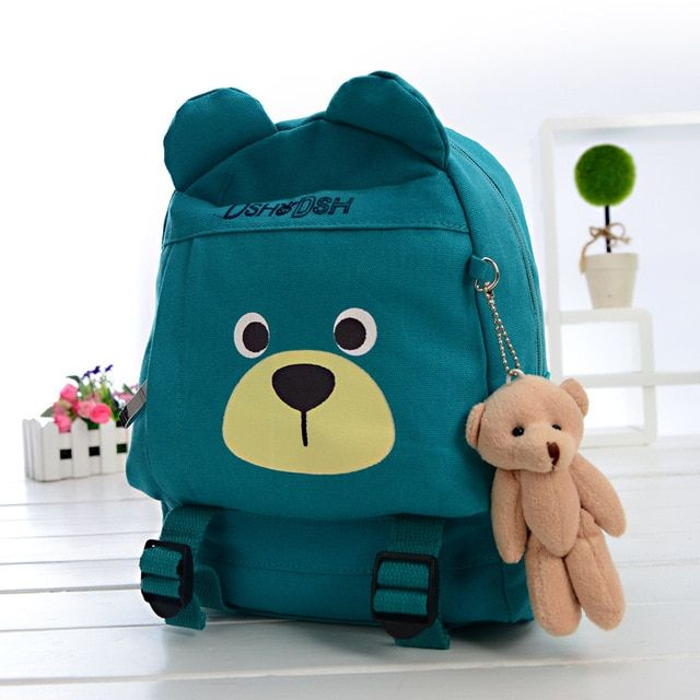 new Children's shoulder bag canvas bag children's cartoon school bags  animals backpack for kindergartenkids