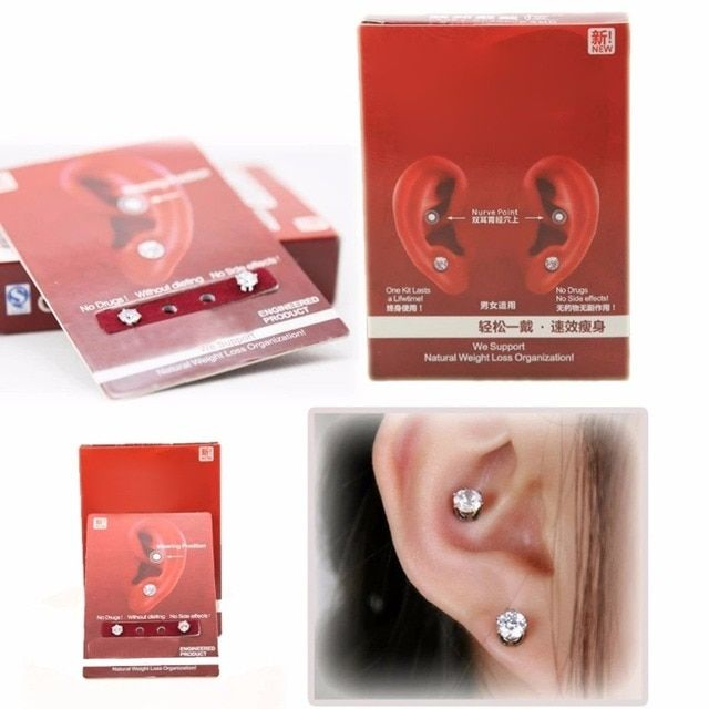 1 Pair Earring Wearing Weight Loss Slimming Natural Organization Without Dieting On Sale