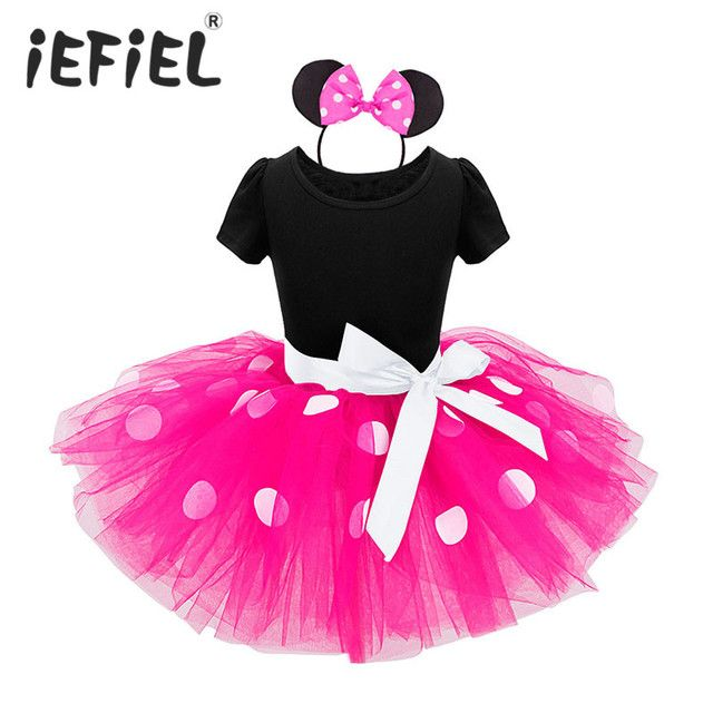 Christmas Dress Baby Girls Birthday Gift Flower Gift Halloween Cosplay Costume Pary Fancy Tutu Dress with Ear Headband 1-8Y