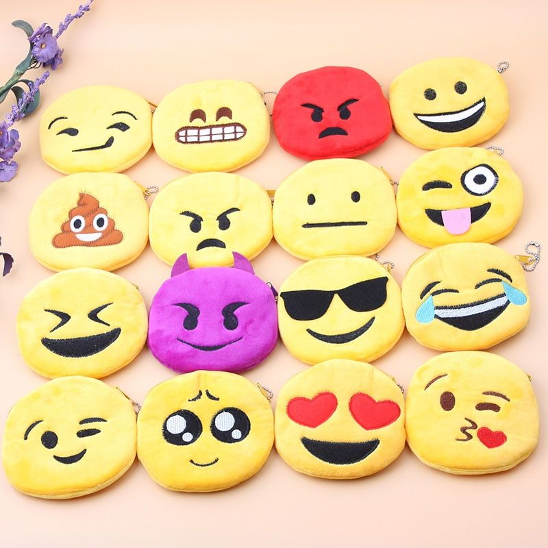 cute emoji Earphone Wire Storage Box Organizer Data Line Cables Storage Container Case Earbuds SD Card Box 6 Colors Coin Purses