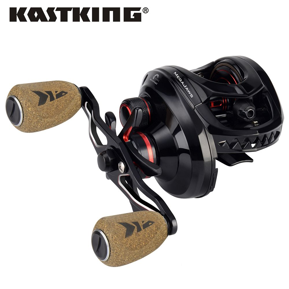 KastKing Megajaws Baitcasting Reel Color Coded Gear Ratio Smooth Bait Casting Fishing Reel 8KG Drag for Bass Fishing