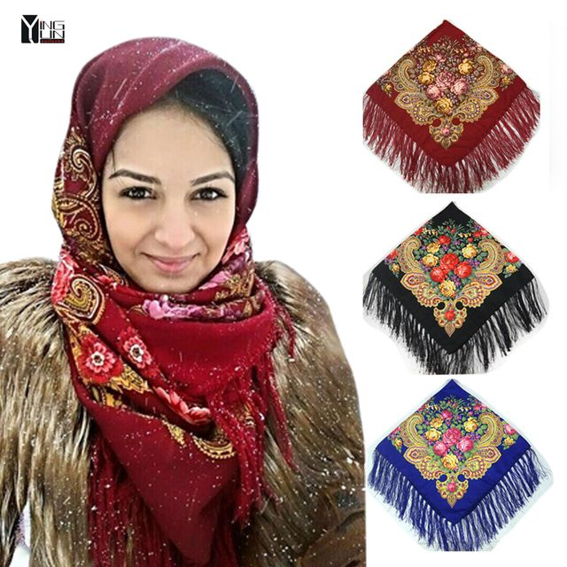 2017New Fashion women Tassel Scarf Printed Women Brand Wraps ponchos and capes hot Sale women chiffon Scarf women winter scarves