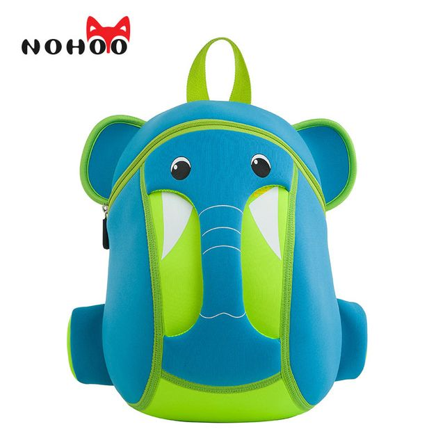 NOHOO Kids Backpack Waterproof 3D Cartoon Children School Bags Neoprene Elephant Small School Backpacks For Girls Boys