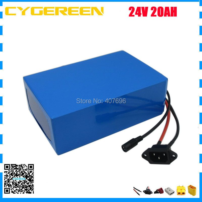 700W 24V 20AH lithium battery 1000W 24V 25AH electric bike battery pack with 18650 Cell BMS 29.4V 3A Charger