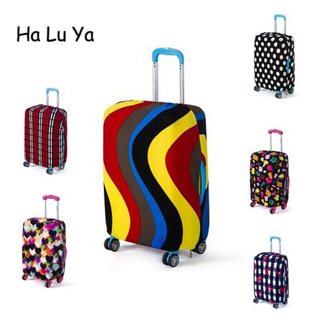 2017 Travel accessories Luggage Suitcase Protective Cover Apply 18~30 Inch Case Luggage Cover Elastic Material Print Dust-Proof