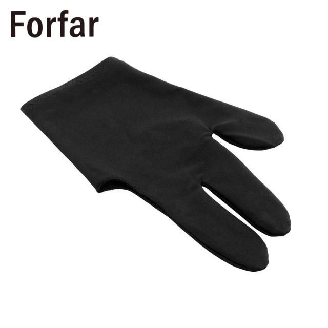 High Quality Durable Nylon 3 Fingers Glove for Billiard Snooker Table Cue Shooter Black Free shipping
