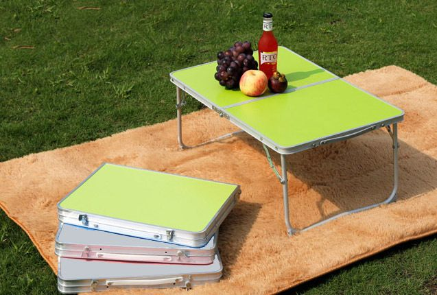 Queen-size Bed Laptop Desk Computer Desk Study Desk Outdoor Aluminum Folding Table Small Table