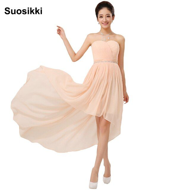 Suosikki High Low Cocktail Dresses New Grace Crystal Dress Formal evening Party gown Vestido de noiva
