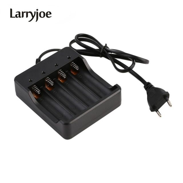 Larryjoe 100Pcs/Lot New 4 Slots Intelligent Charger with Short Circuit Protection For 4x18650 Lithium-ion Rechargeable Battery