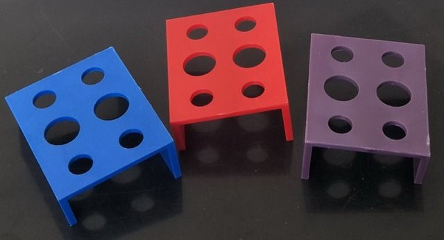 2PCS Wholesale Plastic  square square Tattoo Ink Cup/Caps Holder Supply  Supply 6 Holes For Plastic Tattoo Cups Holder