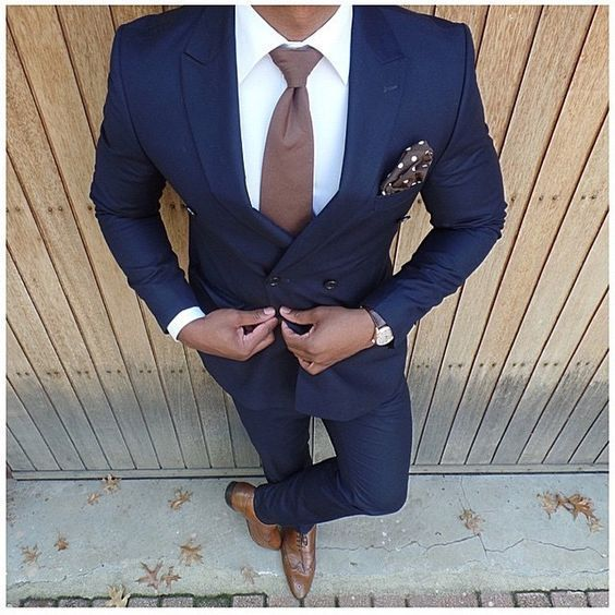 2016 Navy Blue Double Breasted Groom Tuxedos 2 Pieces Mens Wedding Prom Dinner Party Suits Best Man Suit blazer masculino 2016