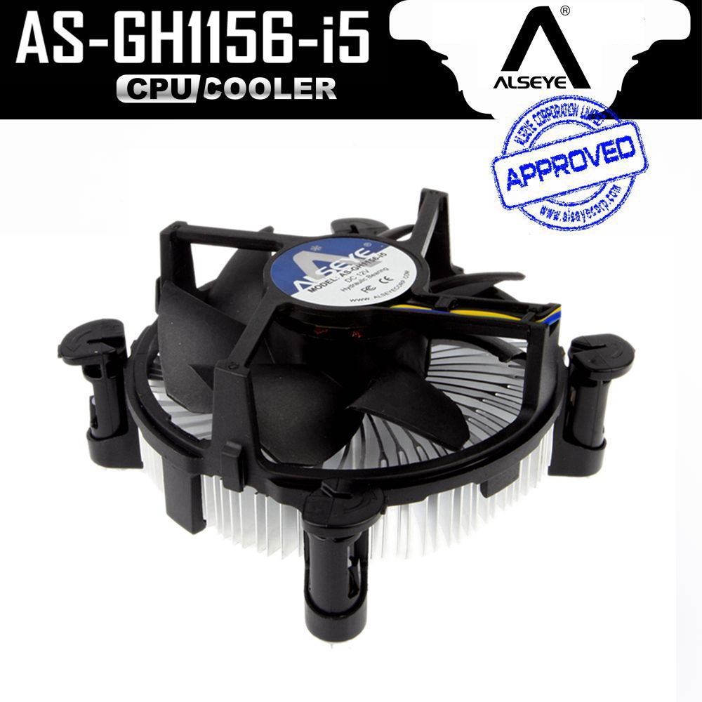 ALSEYE (2pieces)CPU Fan Cooler with Aluminum Heatsink and 90mm Fan Radiator 2300RPM cpu Fan for LGA 775/1150/1151/1155/1156