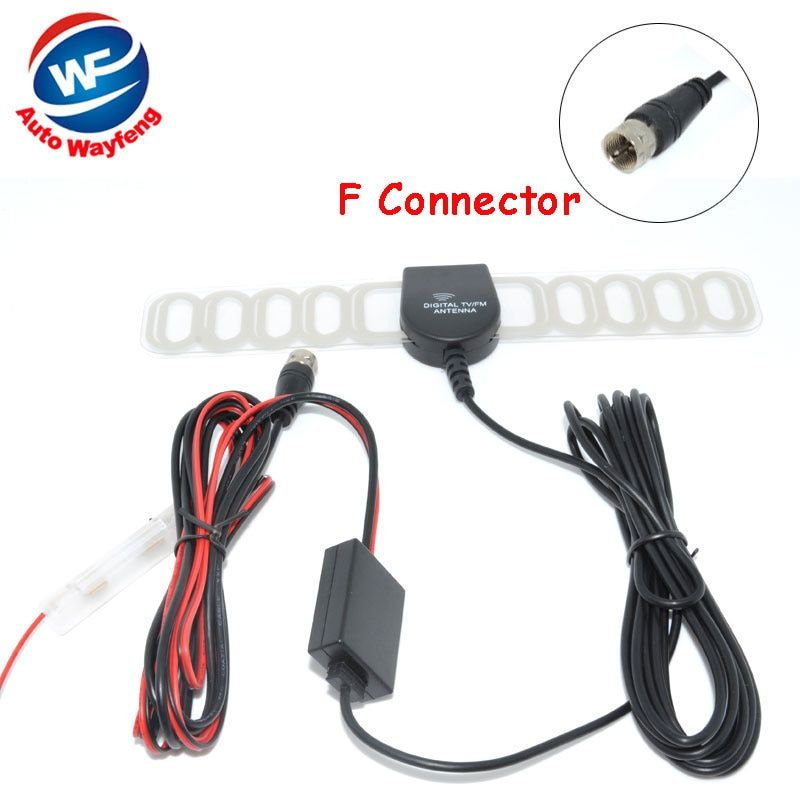F Connector Car DVB-T ISDB-T Digital TV Antenna Active TV Antenna with Amplifier special, F connector for Europe Car Antenna
