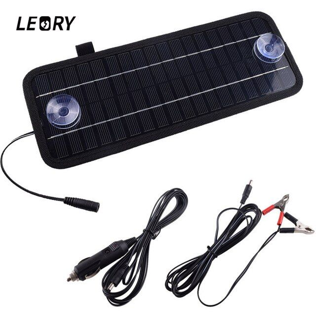 LEORY Hot 12V 4.5W Solar Panel Portable Monocrystalline Solar Charger Module For Car Automobile Boat Rechargeable Power Battery
