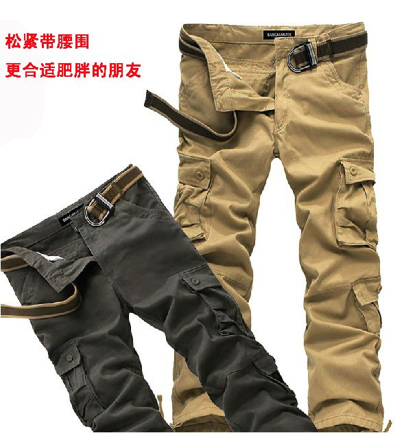 Men's clothing ultralarge multi pocket casual big size pants trousers  large size plus size 3XL,4XL,5XL,6XL