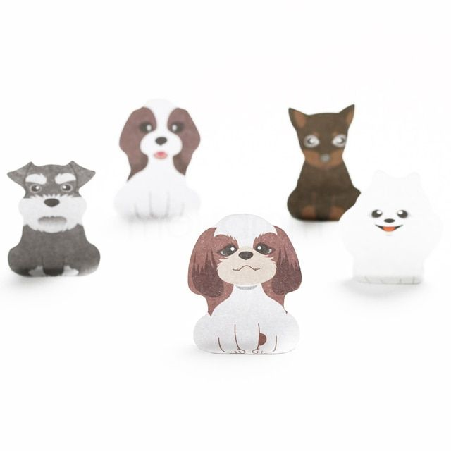 LM182 Dog House Animal Cute Kawaii Stickers Korean Stationery Sticky Notes For School Post It Diary Paper