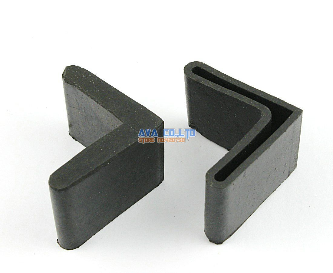 16 Pieces 40 x 40mm  L Shape Furniture Feet Rubber Cover Angle Feet Pad Black