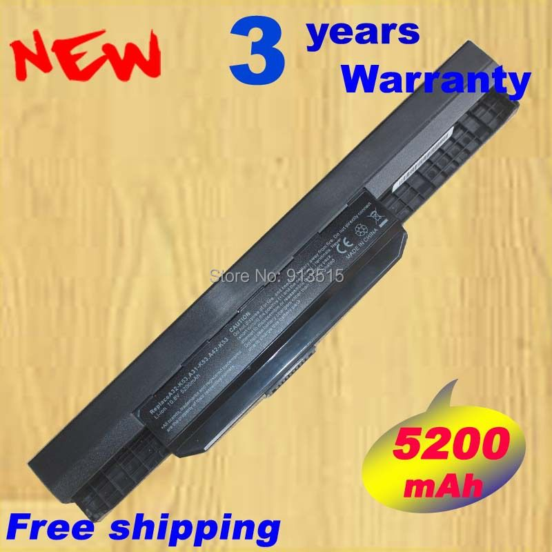 Laptop Battery for ASUS K53SD K53SJ K53SV K53T K53TA K53U X43B X43BY PC