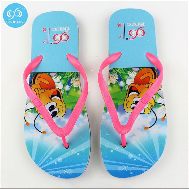 Thermal transfer fashionable restore ancient ways design flip flops look fashionable Comfortable anti-skid Eva welcome custom