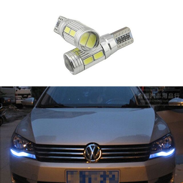 2pcs Car Canbus No Error T10 w5w 194 10-SMD LED Width Lamp light for vw POLO Golf 5 6 7 GTI Passat b5 B6 JETTA MK5 MK6