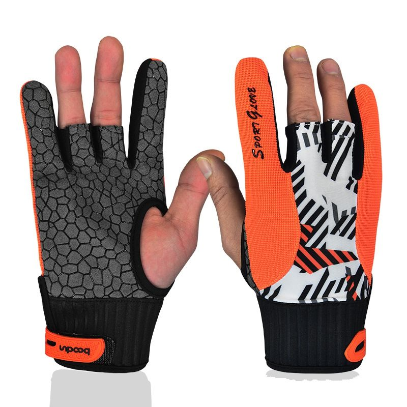 Professional anti-skid bowling gloves Comfortable Bowling accessories Semi-finger instruments sports Gloves for Bowling