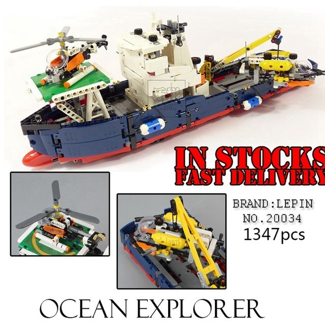 Lepin 20034 Genuine Technic Series Remote-control The Searching Ship Set Building Blocks Bricks Toys 42064