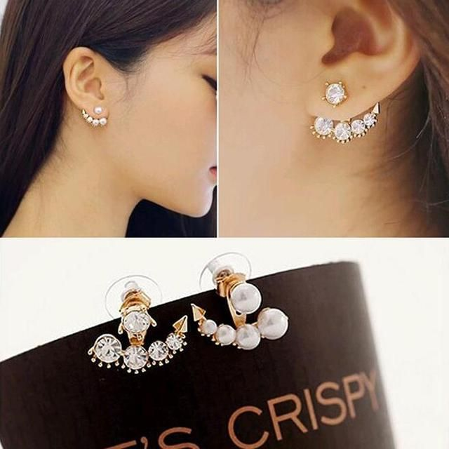 IPARAM 2016 New Hot arrival fashion beauty of television dramas with Sarah seul set auger pearl stud earrings for woman