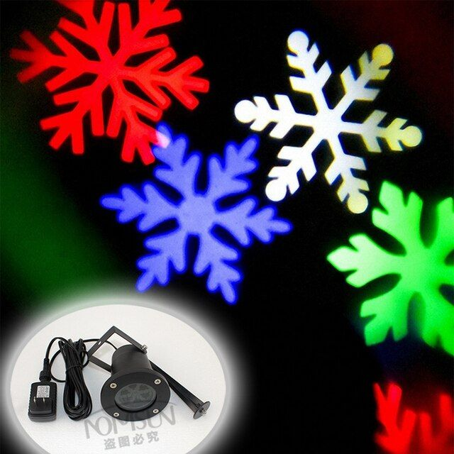 Christmas RGB led effect light IP65 waterproof showers laser snowflake projectors Landscape effect Show Projector lights