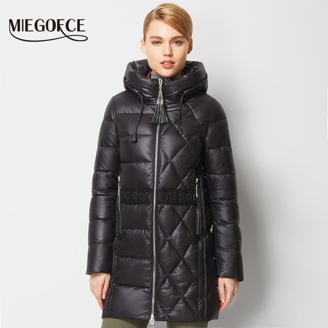 Warm High Quality Woman Parka Winter Jacket  Coat with Hood Winter Women Thick Coat Jacket MIEGOFCE 2016 New Winter Collection