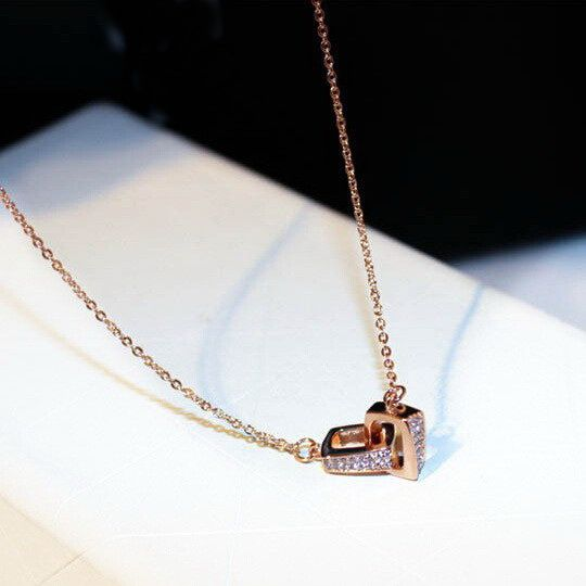 Rose Gold-color Rhinestone Choker Necklace Women Bijoux 2019 New Jewelry Necklaces & Pendants fine gift