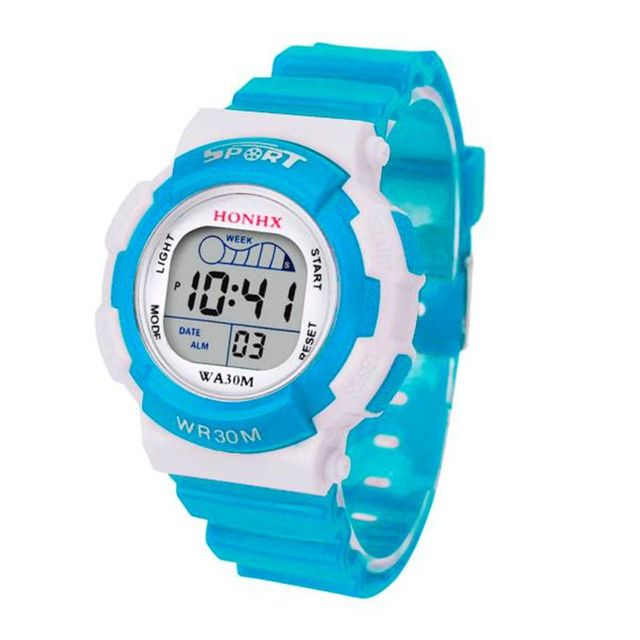 2016 Hot Sale Children Boys Digital LED Sports Watch Kids Alarm Date Watch Gift Good-looking #370717