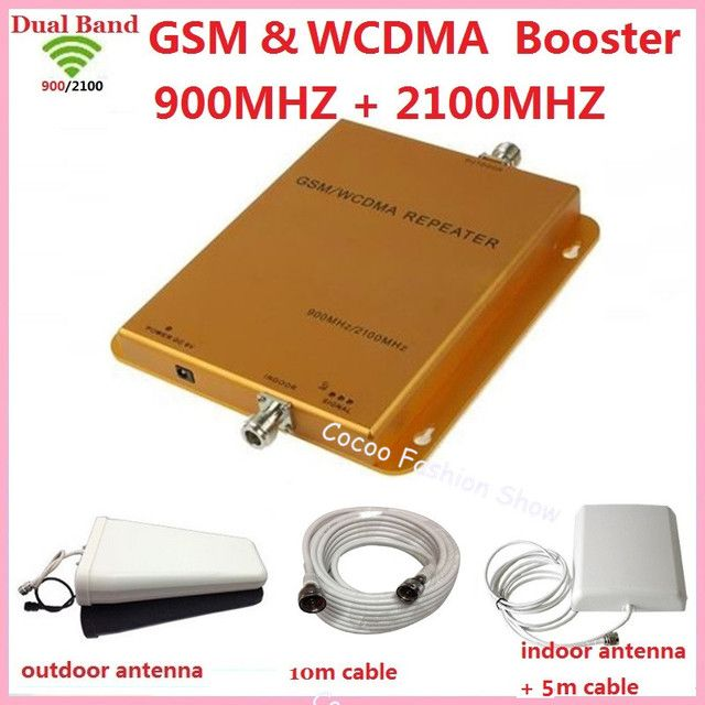 Dual Band LTE FDD GSM 3G signal booster amplifier 70db repetidor 900 2100 cell phone signal booster gsm mobile signal repeater