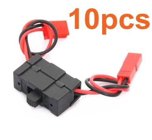 Wholesale 10Pcs/Lot On / off Switch 02050 HSP Spare Parts For 1/10 RC Model Car Battery Receiver