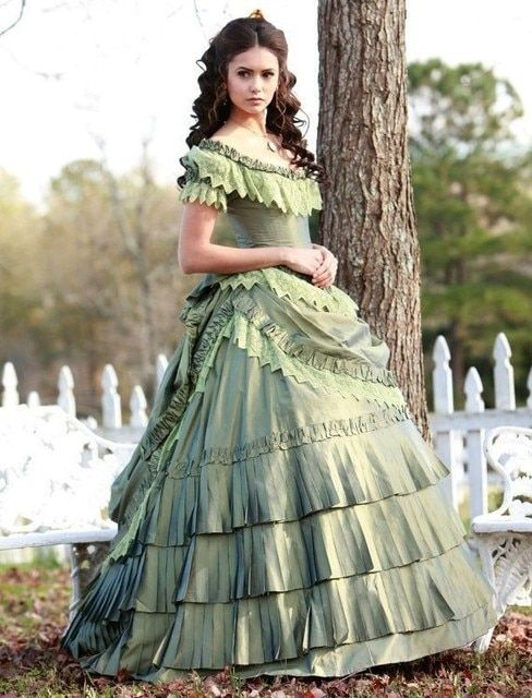 customer to order ET-055 1860S Victorian Sweet Lolita/Civil War Southern Belle Ball Gown Scarlett dresses