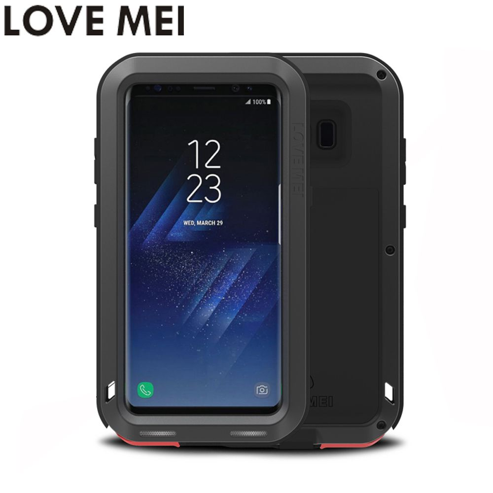 For Samsung Galaxy S8 Case S8 Plus S8+ Powerful Cover Shockproof Case LOVE MEI Quality Hard Aluminum Metal Back Cover Phone Case