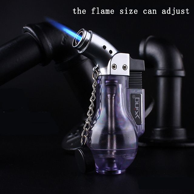 Windproof Lighter Refillable Butane Gas Jet Flame Torch Welding Camping Lighter Cigarette Accessories Gadgets for Men NO GAS